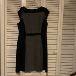 Black and grey Mini/midi dress